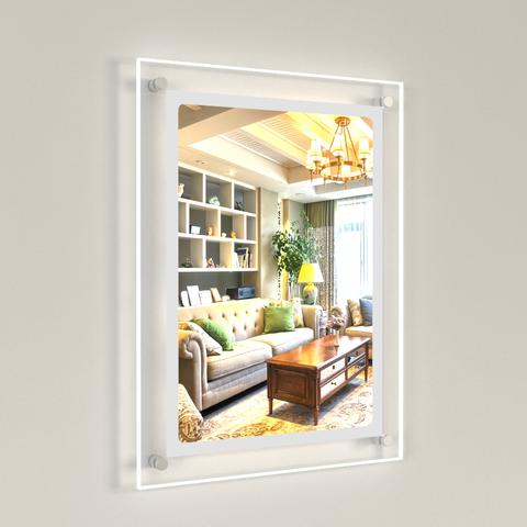 Wall Mounted Bevelled Edge LED Light Panel Kits 1