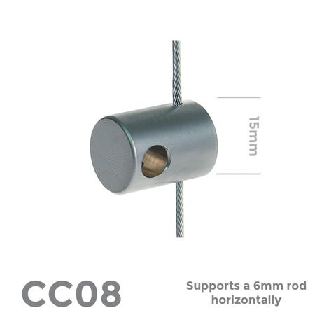 CC08 Supports a 6mm rod