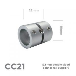 Double sided banner rail support