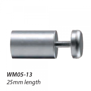 WM05-13 16mm diameter satin chrome standoff 25mm long