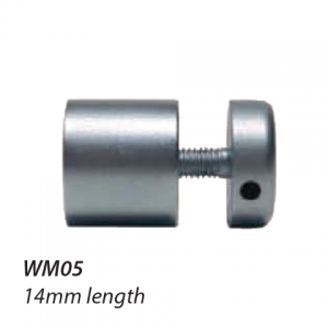 WM05 16mm diameter satin chrome standoff 14mm long