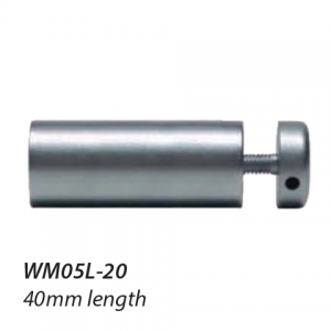 WM05L-20 16mm diameter satin chrome standoff 40mm long