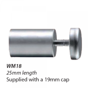 WM18-16mm diameter standoff 25mm length with 19mm cap