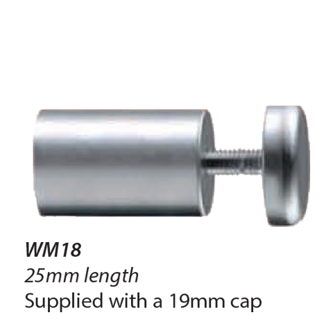 WM18-16mm diameter standoff 25mm length with 19mm cap 1