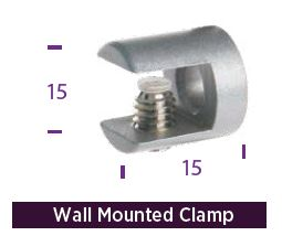 WMC Wall mount clamp for a 6-8mm panel. 1